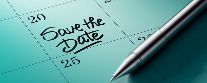 Save the date message on calendar for open days